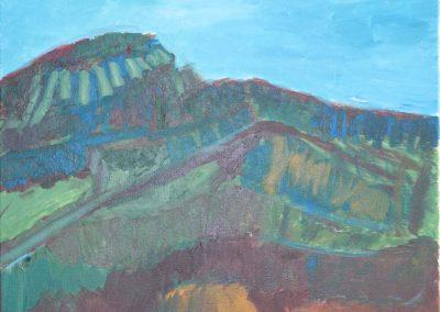 Road through Mountain at Dusk