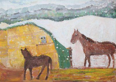 Horses on a Nearby Farm